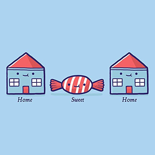 'Home Sweet Home' Candy Houses - Vinyl Sticker