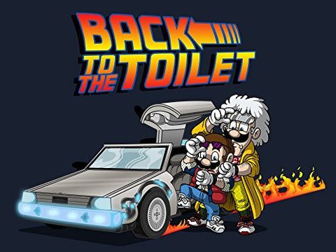 'Back to the Toilet' Funny Video Game & Movie Parody 24x18 - Vinyl Print Poster