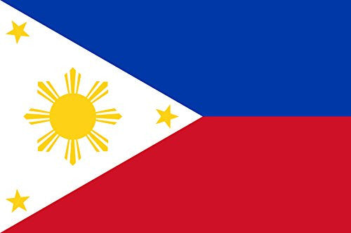 Philippines - World Country National Flags 18x12 - Vinyl Print Poster