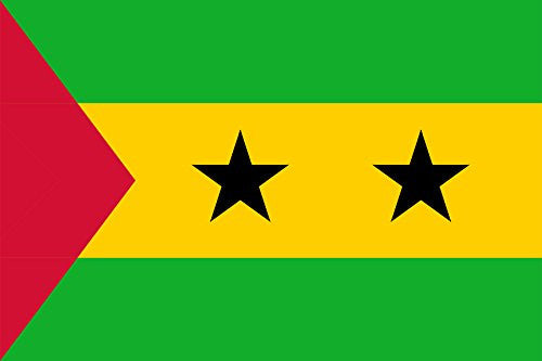 Sao Tome & Principe - World Country National Flags 18x12 - Vinyl Print Poster