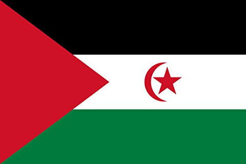Western Sahara - World Country National Flags 18x12 - Vinyl Print Poster