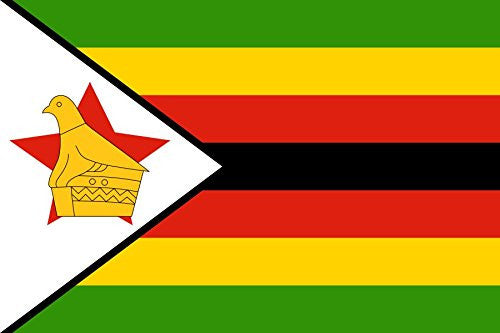 Zimbabwe - World Country National Flags 18x12 - Vinyl Print Poster