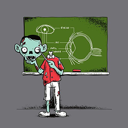 'Eye Lesson' Zombie Teaching About Eyeball 18x18 - Vinyl Print Poster