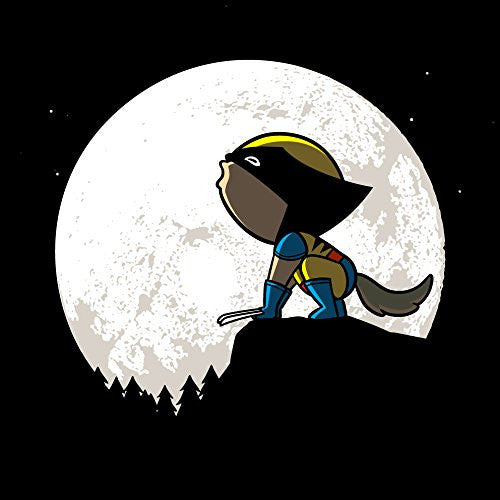 'Howling Wolf' Funny Super Hero Comic Parody w/ Moon 18x18 - Vinyl Print Poster