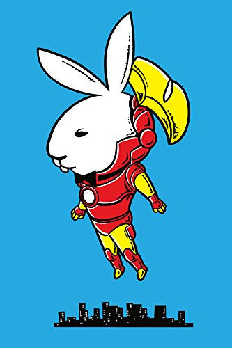 'Bunny Inside' Funny Super Hero Comic & Magazine Publication Parody 12x18 - Vinyl Print Poster