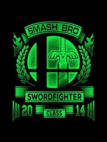 Vinyl Print Poster - 18x24 Smash Bro Swordfighter - Parody Design