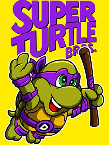 Vinyl Print Poster - 18x24 Super Turtle Bros Donnie - Parody Design
