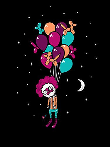 'Last Laugh' Suicide Clown Hung From Helium Balloons 18x24 - Vinyl Print Poster