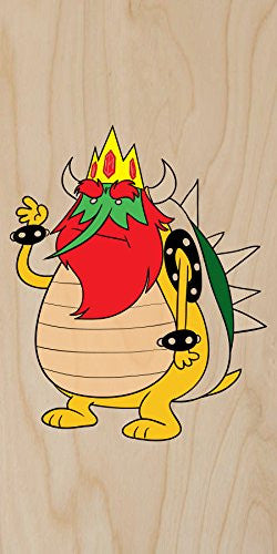 'Plumbing Time' King Character Funny Video Game & TV Show Cartoon Parody - Plywood Wood Print Poster Wall Art