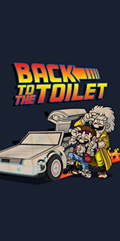 'Back To The Toilet' Funny Video Game & Movie Parody - Plywood Wood Print Poster Wall Art
