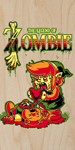 'The Legend of Zombie' Funny Classic Video Game Parody - Plywood Wood Print Poster Wall Art