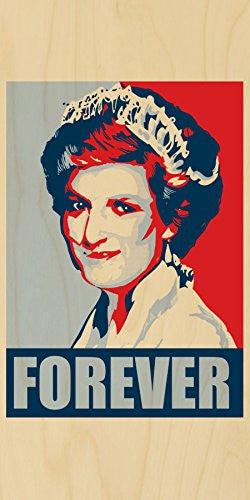 'Princess Diana Forever' Political Poster Style Design - Plywood Wood Print Poster Wall Art