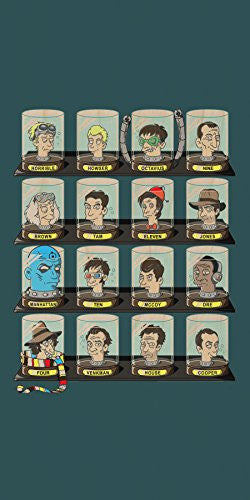 'Doctorama' Doctor Characters Parody - Plywood Wood Print Poster Wall Art