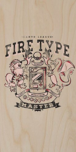 'Fire Type' Anime TV Show Parody - Plywood Wood Print Poster Wall Art