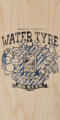 'Water Type' Anime TV Show Parody - Plywood Wood Print Poster Wall Art