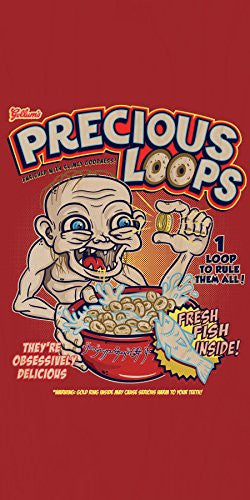 'Precious Loops' Movie Film Parody - Plywood Wood Print Poster Wall Art