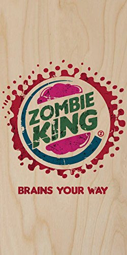 'Zombie King' TV Show Parody - Plywood Wood Print Poster Wall Art