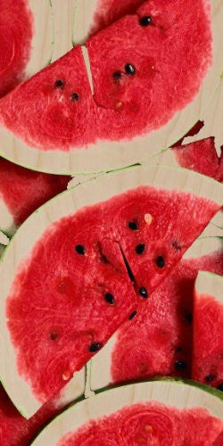 Watermelon Slices Red & Green - Plywood Wood Print Poster Wall Art