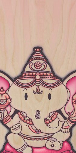World Religion Hindu Deity Lord Ganesh Elephant - Plywood Wood Print Poster Wall Art
