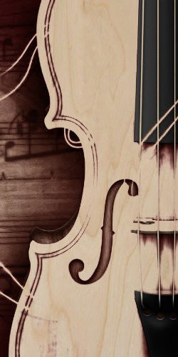 Violin Stringed Instrument 'F' Hole - Plywood Wood Print Poster Wall Art