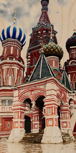 Saint Basil's Cathedral Red Square Moscow, Russia - Plywood Wood Print Poster Wall Art
