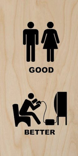 'Good / Better' Relationship Vs. Video Games - Plywood Wood Print Poster Wall Art