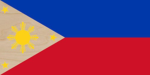 Philippines - World Country National Flags - Plywood Wood Print Poster Wall Art