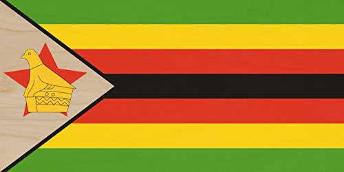 Zimbabwe - World Country National Flags - Plywood Wood Print Poster Wall Art