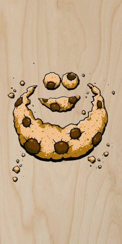 'Hidden Monster' Funny Public Television Show Parody Chocolate Chip Crumbs - Plywood Wood Print Poster Wall Art