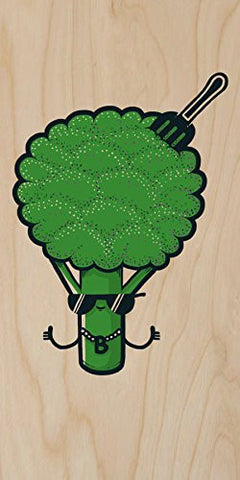 'B-Roc' Broccoli Humor - Plywood Wood Print Poster Wall Art