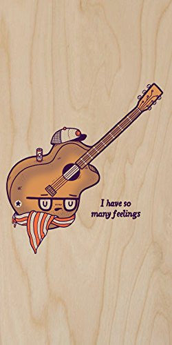 'Douche Guitar' Hipster Humor - Plywood Wood Print Poster Wall Art