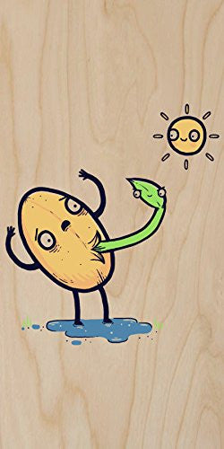 'Germinated' Plant & Seed Parody - Plywood Wood Print Poster Wall Art