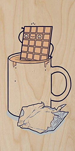 'Hot Chocolate' Candy Bar Bath Humor - Plywood Wood Print Poster Wall Art