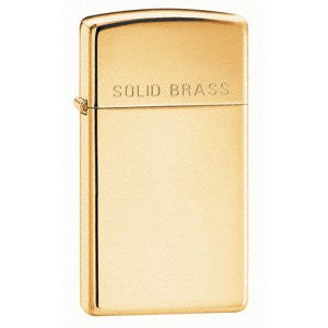 Zippo 2 Pack of High Polish Brass, Slim, Engraved Solid Brass