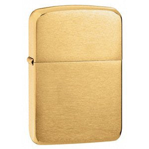 Zippo 2 Pack of Brushed Brass, 1941 Replica