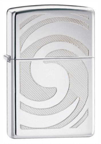 Zippo Lighter 3d Abstract High Polished Chrome - Zippo 28286