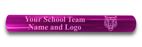 Custom Pink Aluminum Track and Field Relay Baton Personalized Gift - Your Team Name and Logo Engraved
