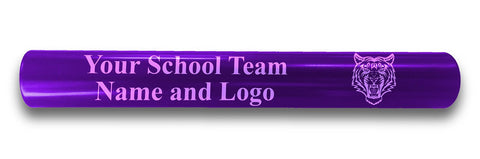 Custom Purple Aluminum Track and Field Relay Baton Personalized Gift - Your Team Name and Logo Engraved