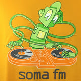 Detail of actual Screenprint on SomaFM Robot DJ Tshirt