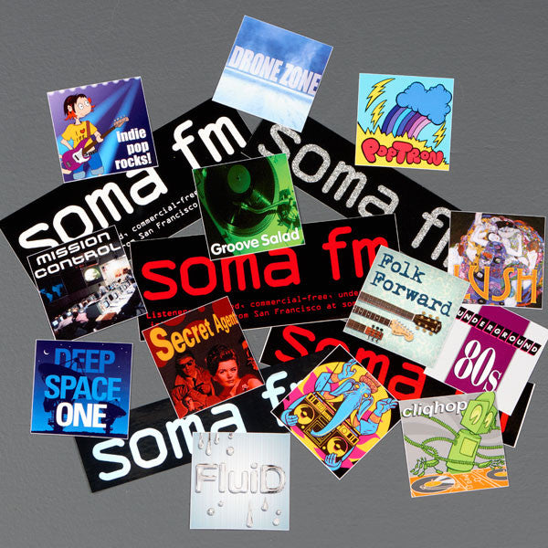 Deluxe SomaFM and Channels Sticker Pack - SomaFM