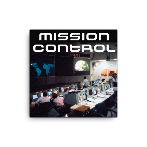"Mission Control 16x16"" Stretched Canvas Print"