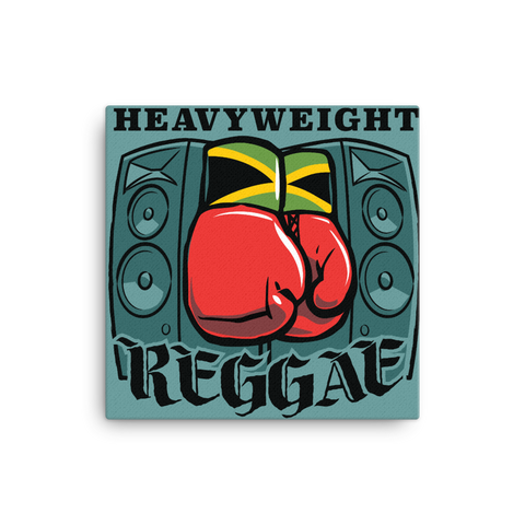 "Heavyweight Reggae 16x16"" Stretched Canvas Print"