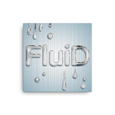 "Fluid 16x16"" Stretched Canvas Print"