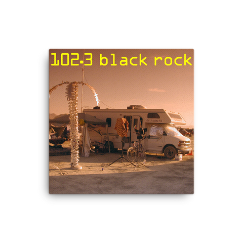 "Black Rock FM 16x16"" Stretched Canvas Print"