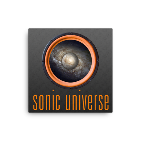 "Sonic Universe 16x16"" Stretched Canvas Print"