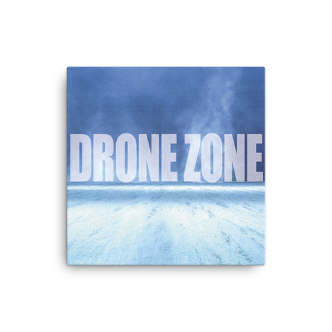 "Drone Zone 16x16"" Stretched Canvas Print"