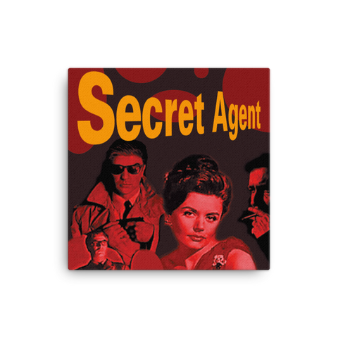 "Secret Agent 16x16"" Stretched Canvas Print"