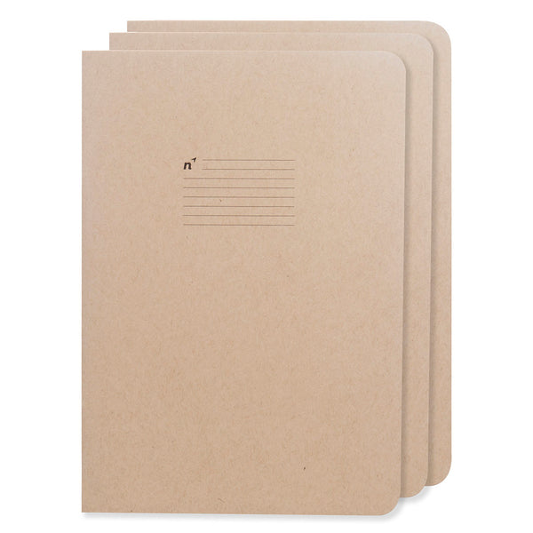 Northbooks 3 pack of B5 College Ruled Journals 7 x 10 inch Large | Made in USA