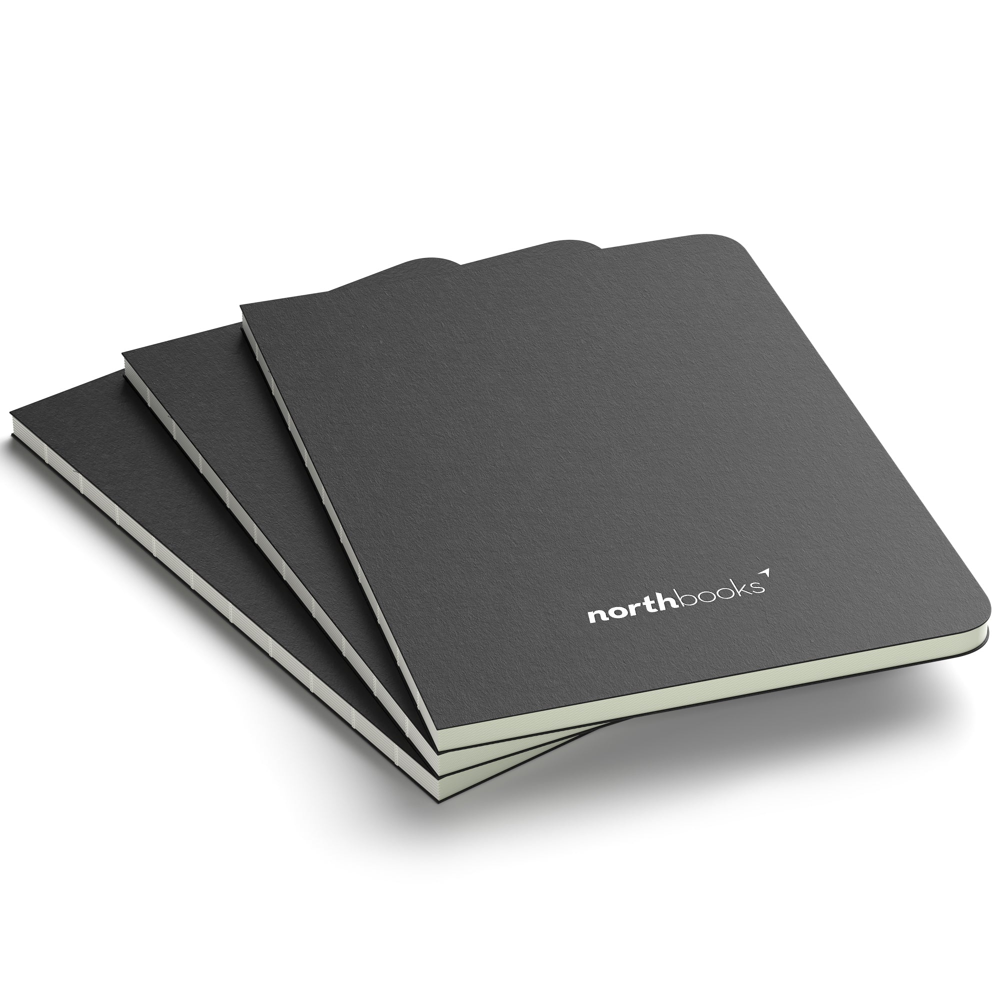 A5 X Ruled Writing Notebook 3 Pack