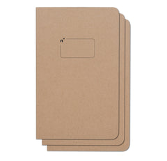 Blank 3 Pack of 5x8 Notebooks, 96 Pages